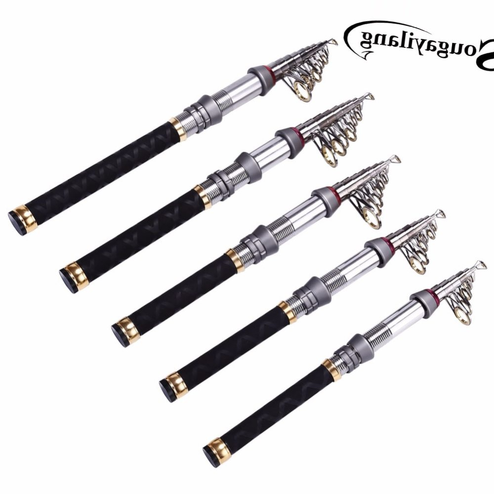 Sougayilang 1.3-2.4m Mini Fishing Rod Spinning Fishing Rod Portable Carbon Fiber Rod Pocket Telescopic Fishing Rod De Pesca