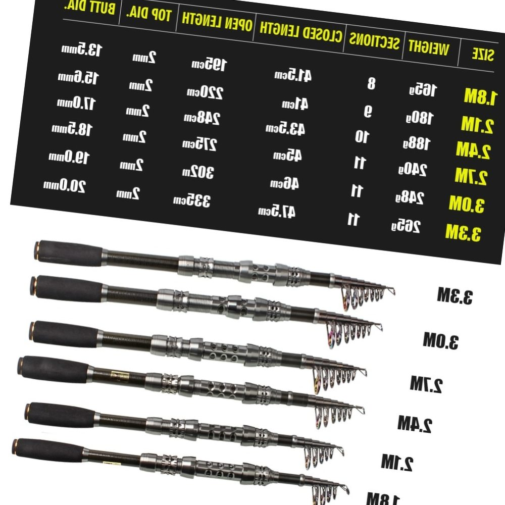 Sougayilang 1.8-3.3M Telescopic Fishing Rod 99% Carbon Fiber Portable Fishing Rod Tackle Sea Rod Fishing Tackle Pole De Pesca
