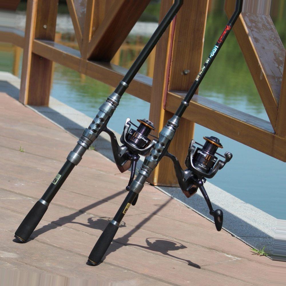 Sougayilang 1.8-3.6m Telescopic Fishing Rod and 14BB Spinning Fishing Reel Wheel Portable Fishing Rod Spinning Fishing Rod Combo