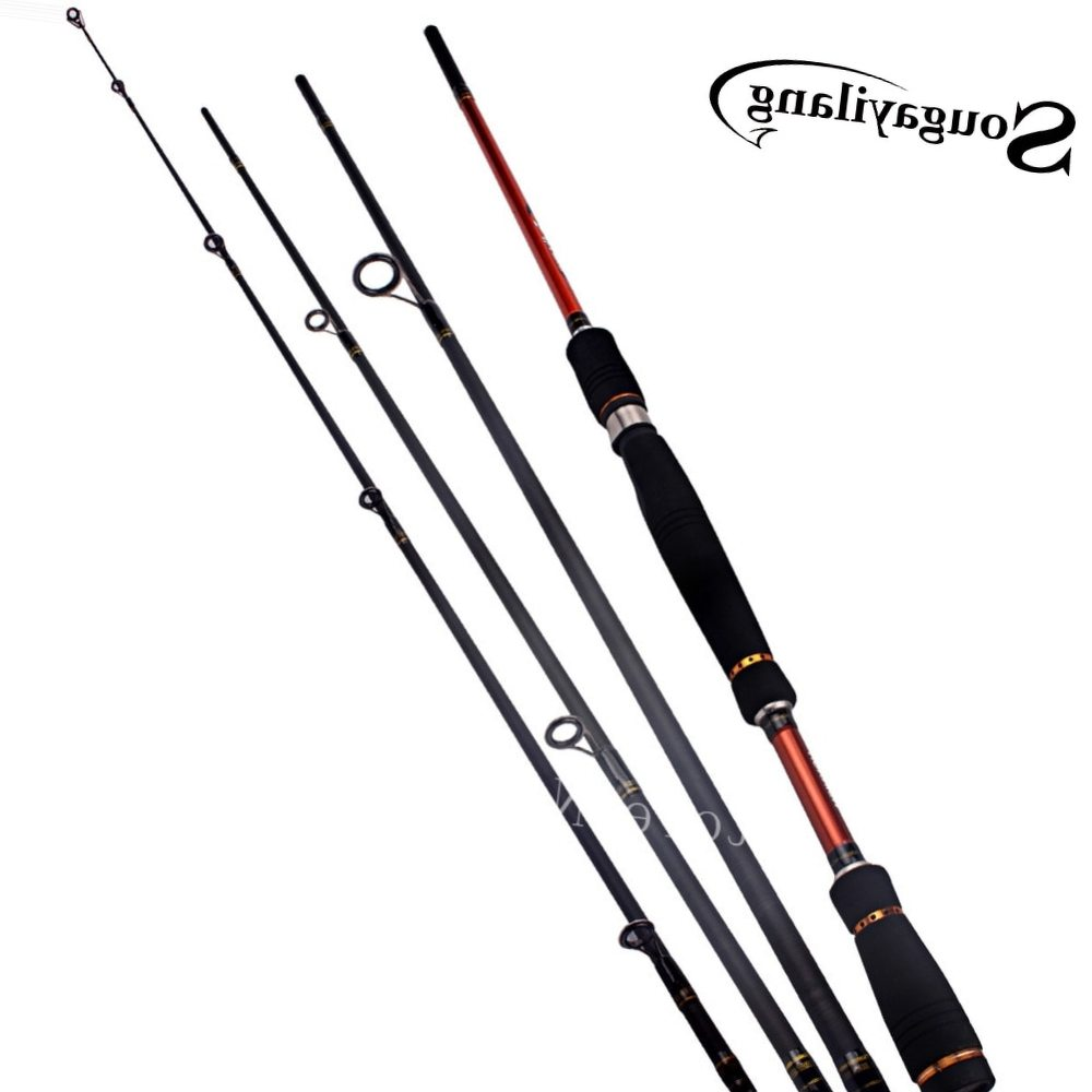 Sougayilang 2.1m 2.4m 2.7m Portable Baitcasting Carbon Spinning Sea Boat Beach Fly Fishing Pole Stick Fishing Rod Fishing Tackle