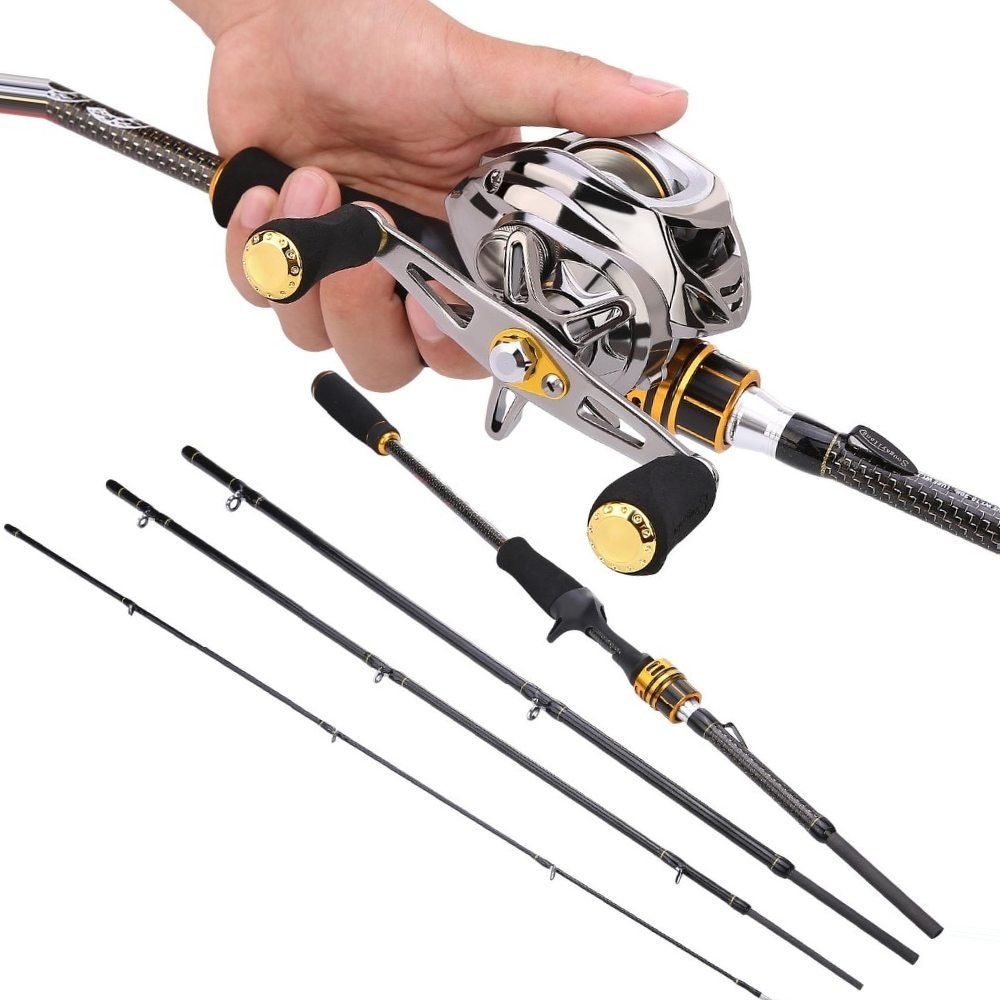 Sougayilang 2.1m Fishing Lure Rod and Baitcasting Reel Combo Portable Spinning Casting Reel Fishing Spinning Pole Sets De Pesca