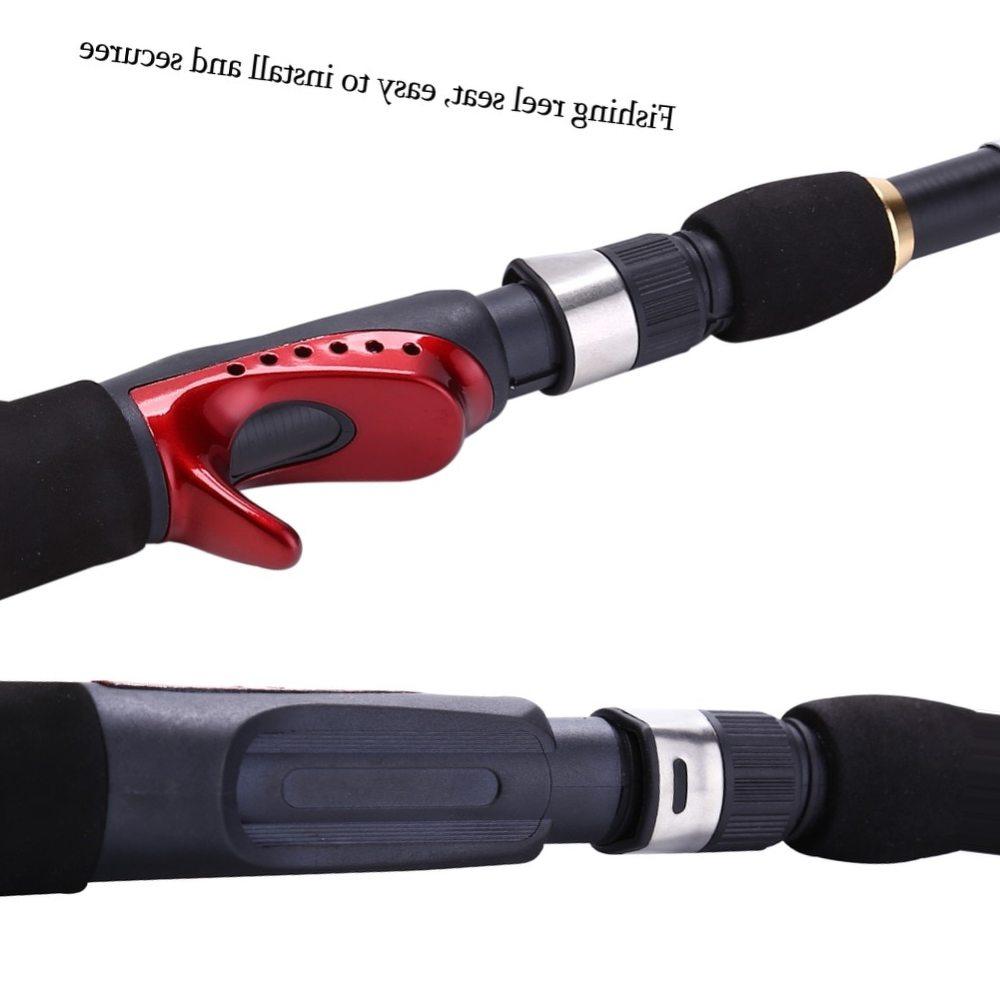 Sougayilang 2 Design Choosen 145/165cm Portable Carp Ice Fishing Rod Carbon Fiber Material Fiberglass Fishing Rod Pen Shape Tool