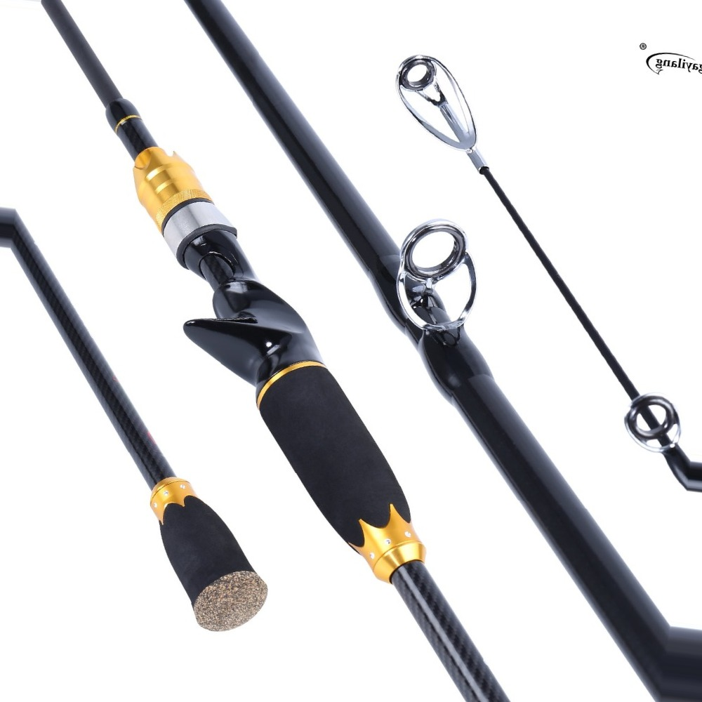 Sougayilang 2m Fishing Lure Rod Carbon Casting Lure Wt 12-45g Portable Spinning Rods Fishing Pole Max Drag 2-4.5kg De Pesca