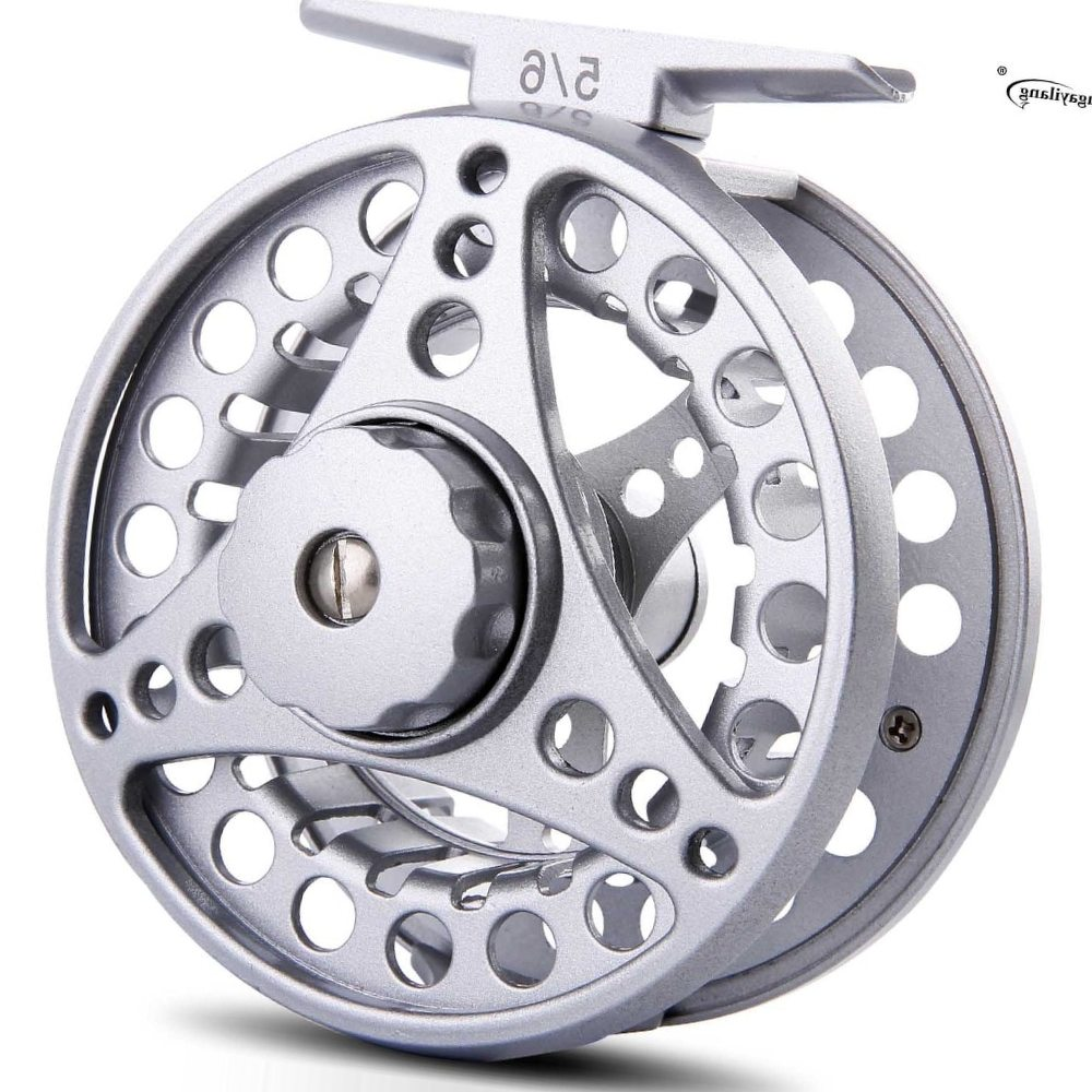 Sougayilang 5/6 Fly Fishing Reel Coil Die Casting Aluminium Alloy Wheels Spool Freshwater Fly Reel Fishing Tackle de pesca