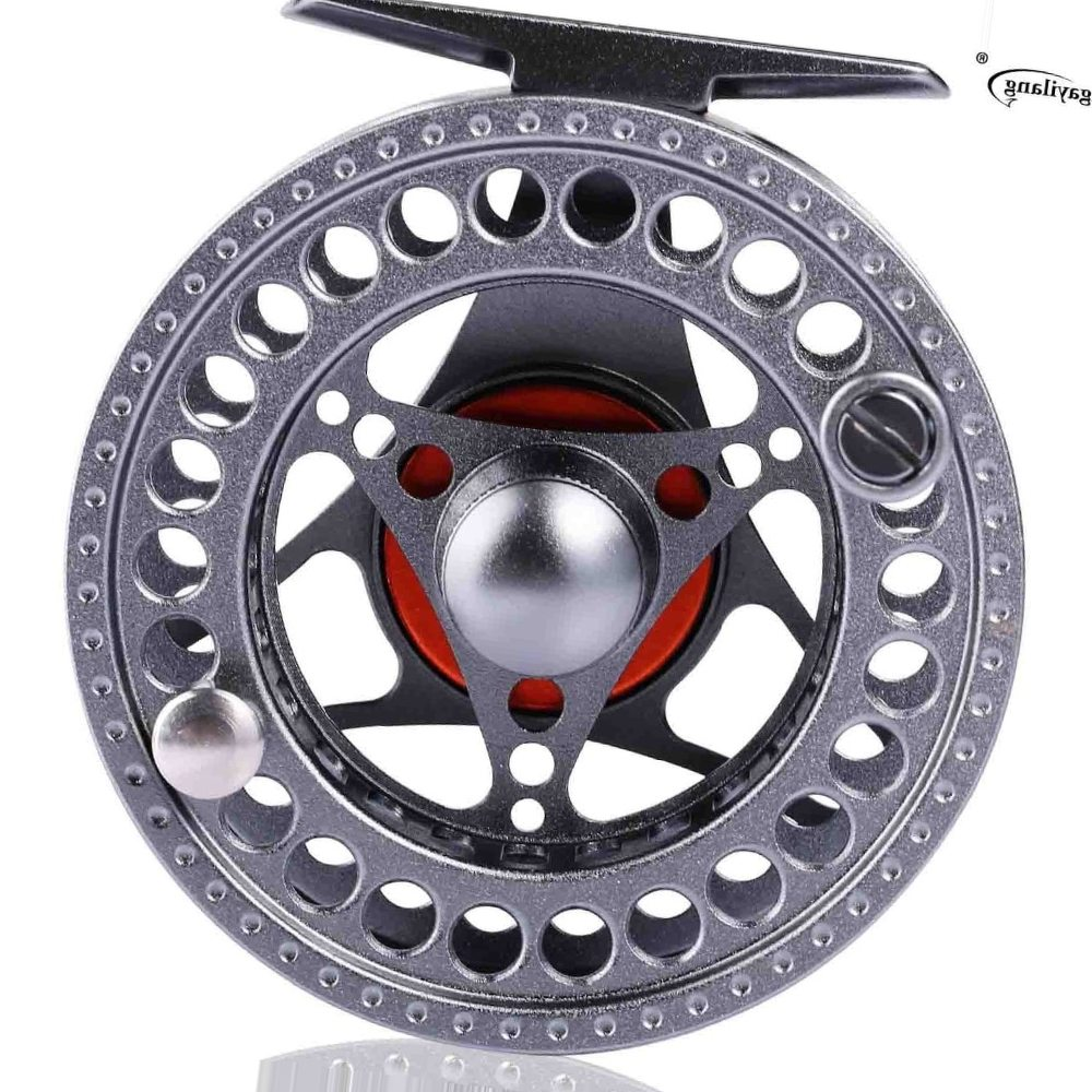 Sougayilang 5/6 Fly Fishing Reels Left/Right Hand Coil Die Casting Aluminium Alloy Spool Fly Fishing Wheel Saltwater Freshwater