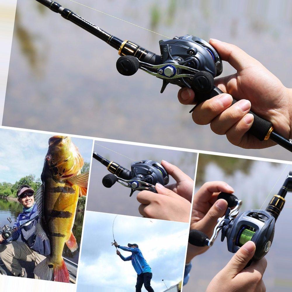 Sougayilang 6.3:1 Baitcasting Fishing Reel Wheels Right/Left Handed Lure Rod Carp Baitcasting Reel Coil Fishing Max Drag 12kg
