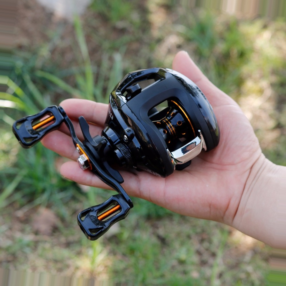 Sougayilang 6.3:1 Baitcasting Reel Wheels Strong Drag Power 13BB Right/Left Handed Carp Fishing Reel Max Drag 8kg Fish Tracking