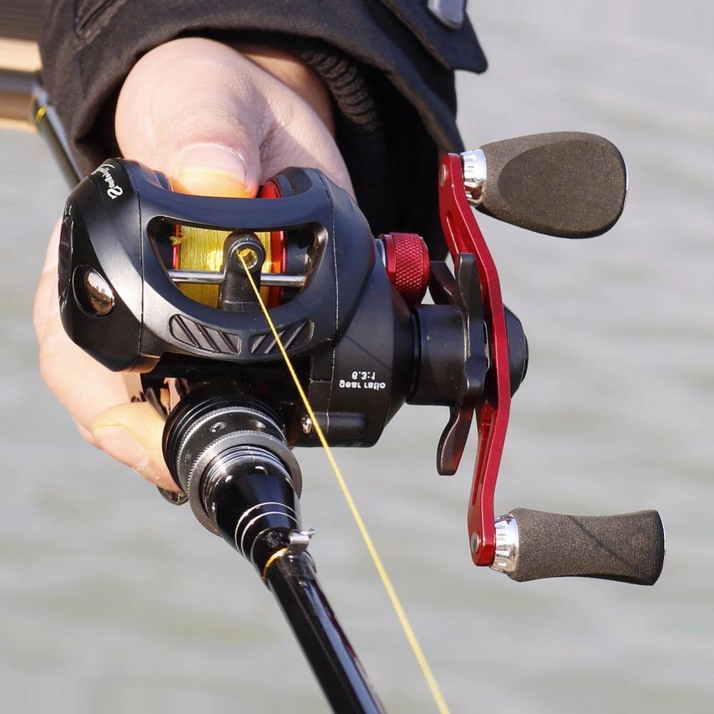 Sougayilang 6.3:1 Fresh/Salt Water Baitcasting Fishing Reel Carp Baitcasting Reel Lure Casting Reel Carbon Max Drag 7.5KG/16.5L