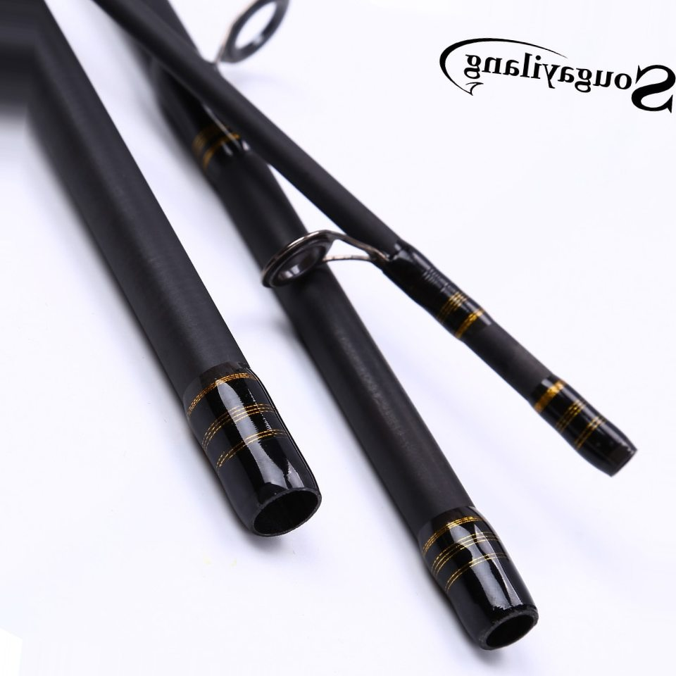 Sougayilang Baitcasting Fishing Rod Lure Fishing Rod Carbon Fiber Material 4 sections 2.1/2.4/2.7m Telescopic Fishing Rod Tackle