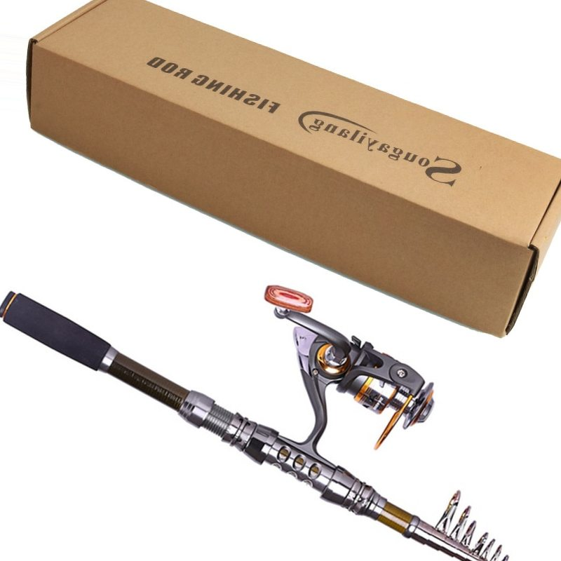 Sougayilang Brand 1.8-3.3M Telescopic Fishing Rod and 11BB Metal 5.2:1 Ratio Spinning Fishing Reel Rock Carp Fishing Tackle Set