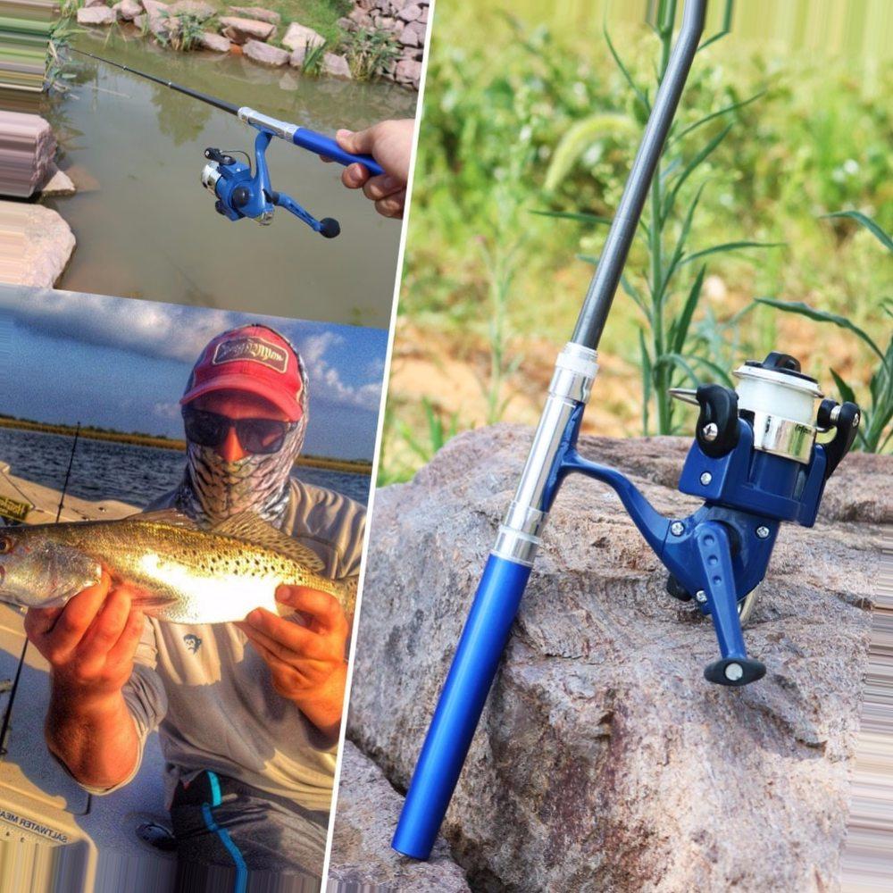 Sougayilang Children Fishing Rod Fishing Combo Mini Telescopic Portable Pocket Fish Pen Spinning Fishing Reel