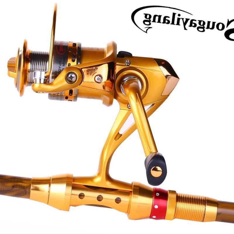 Sougayilang Fishing Rod Combo Kit Carbon Fiber Telescopic Pole With Full Metal Reel Set Trolling Carp Fishing Tackle De Pesca