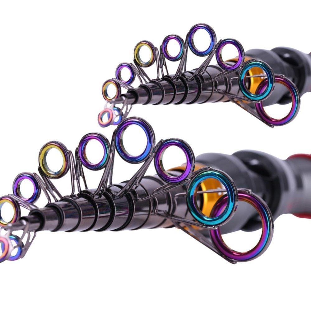 Sougayilang Free shipping 1.8-3.6M High Quality Telescopic Fishing Rod Carbon Carbon Fiber Carbon Spinning Seawater Fishing Rod