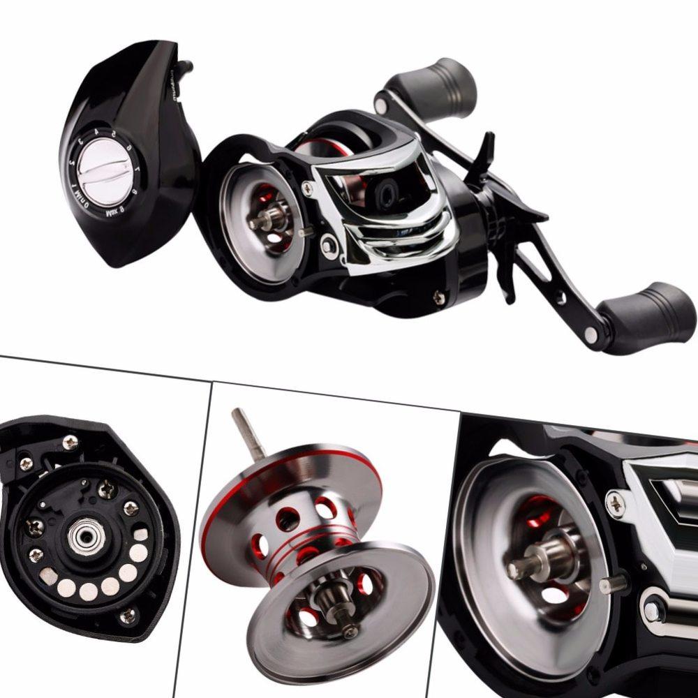 Sougayilang High Speed 7.2:1 Baitcasting Fishing Wheel Strong Drag Power 18BB Ball Bearings Right/Left Handed Carp Fishing Reel