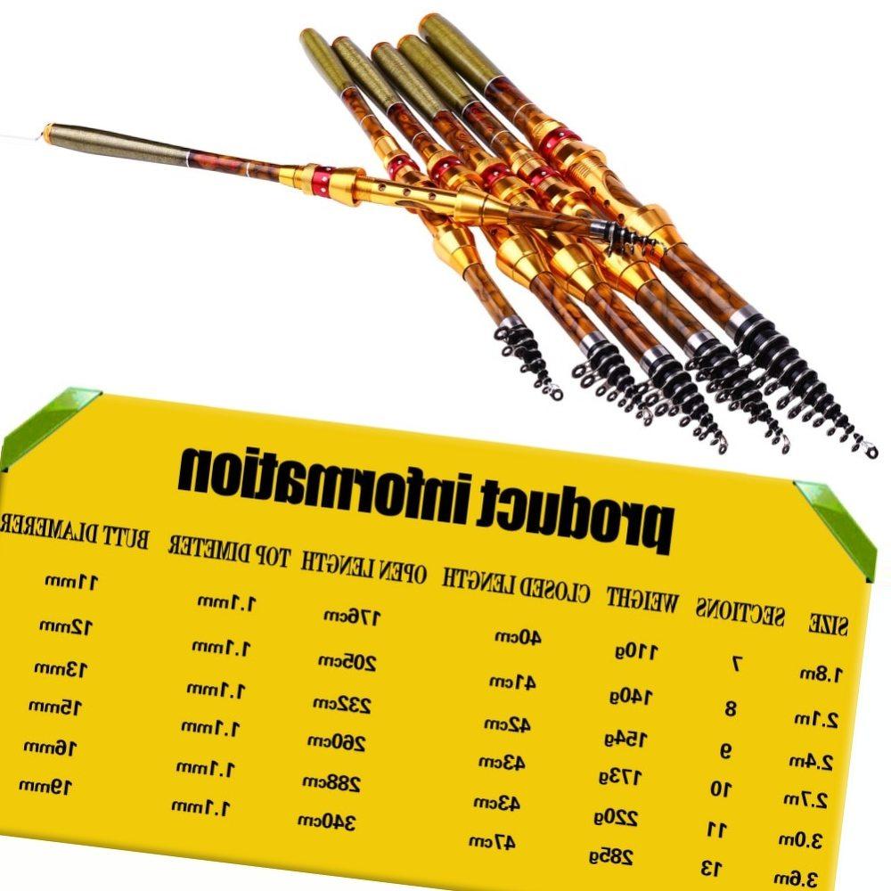 Sougayilang Hot Sell 1.8-3.6M Telescopic Fishing Rod Carbon Fiber Material Carp Fishing Spinning Rod Freshwater Fishing Rod