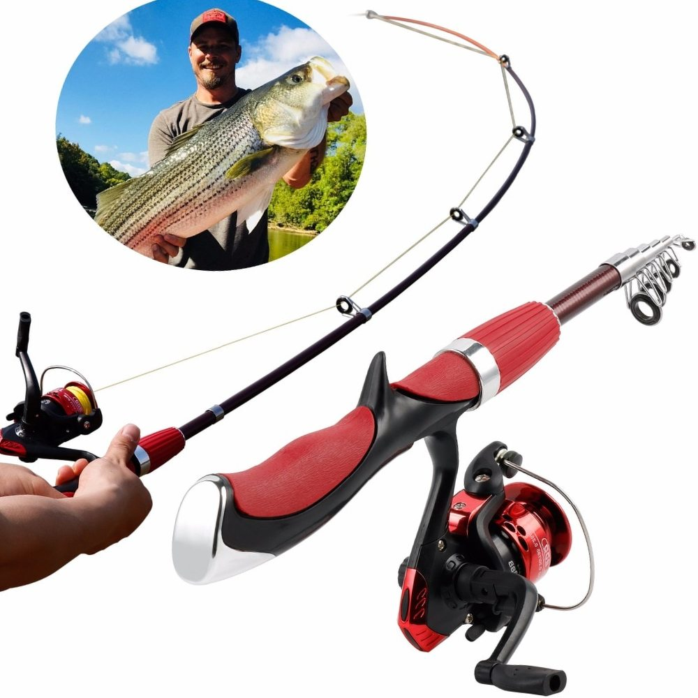 Sougayilang Hot Sell Ice Fishing Rod and Reel Set Special Mini Carbon Fiber Rod with Full Metal Reel Ice Fishing Rod Combo Kit