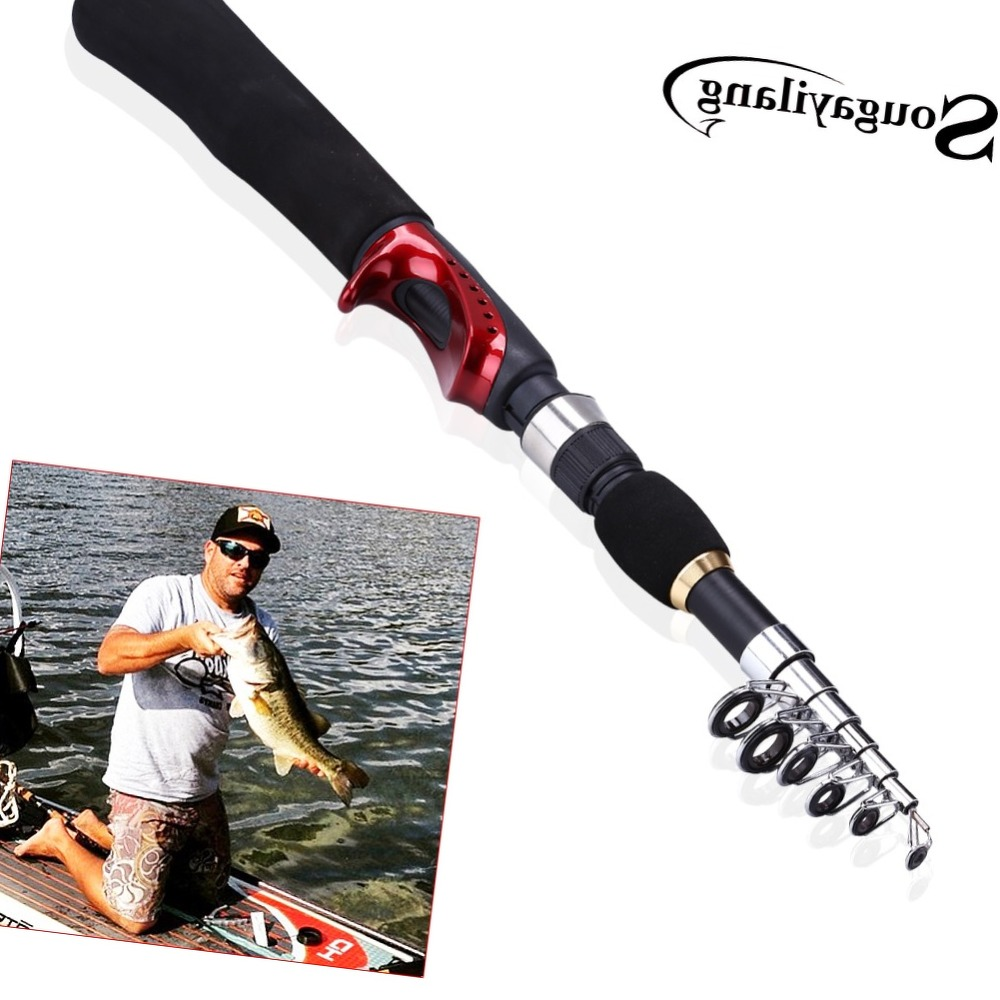 Sougayilang New Design165cm Portable Carp Ice Fishing Rod Tools Tackle Carbon Fiber Material Telescopic Fishing Rod De Pesca