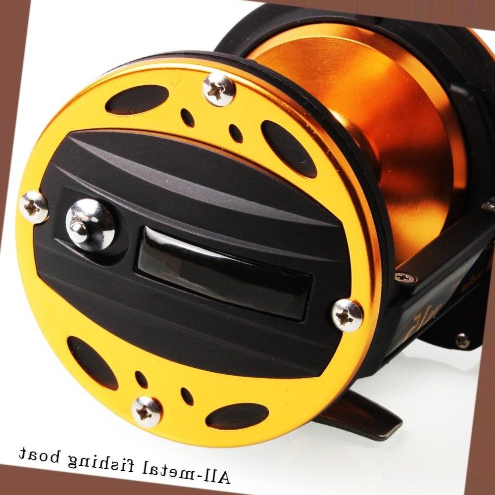 Sougayilang Professional Drum Fishing Reel Baitcasting Reel 3BB Carp Fishing Gear Bait Drag Fishing Reel Wheel Coil De Pesca