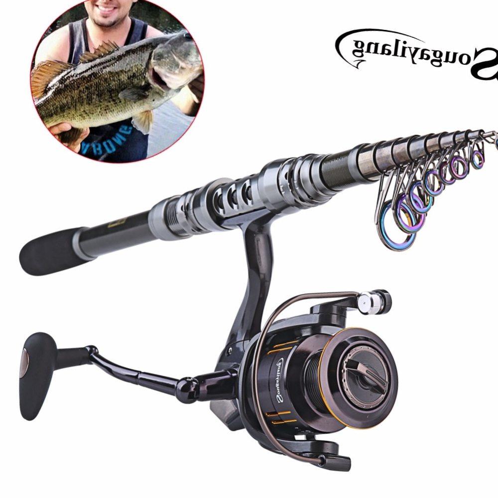 Sougayilang Spinning Fishing Rod Combo 1.8-3.6m Telescopic Fishing Rod and 14BB Spinning Fishing Reel Wheel Set Fishing Rod Kit
