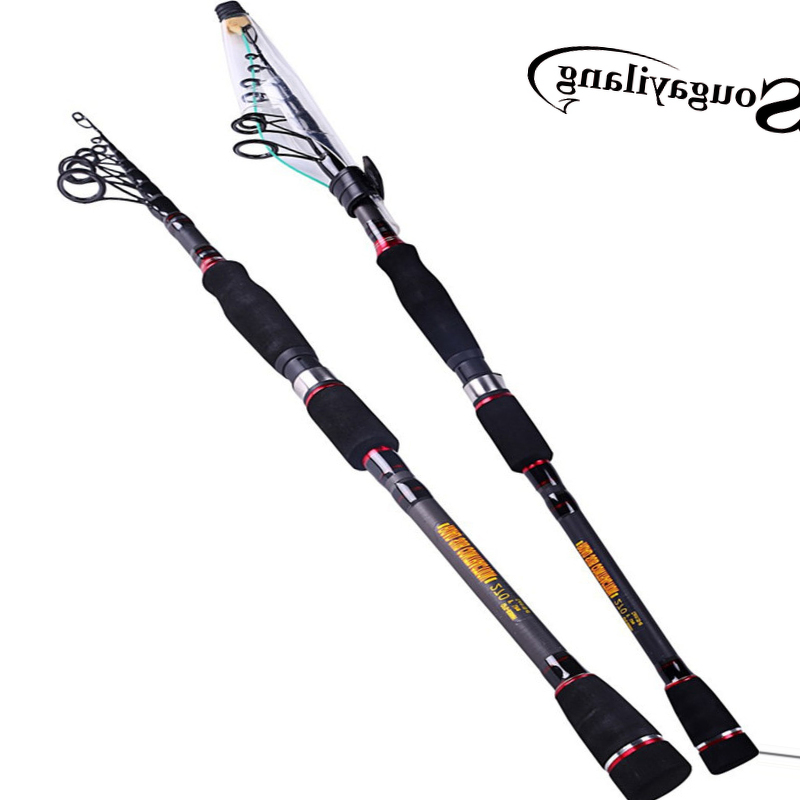 Sougayilang Spinning Fishing Rod Telescopic Fishing Rod 99% Carbon Fiber Baitcasting Rod Bass Lure Fishing Pole Fishing Tackle