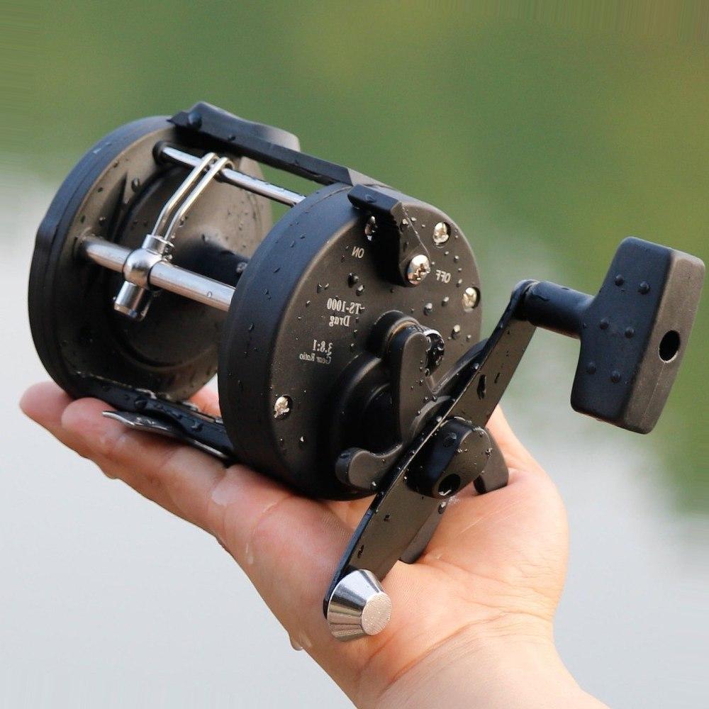 Sougayilang Trolling Fishing Reel Right Hand Casting Drum Baitcasting Reels Coil Wheel Saltwater Fishing Tackle Max Drag 12kg
