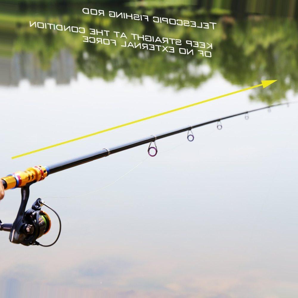 Sougayilang1.8-3.3M Telescopic Fishing Rod Carbon Portable Travel Spinning Rod Saltwater Freshwater Fishing Tackle Pole De Pesca