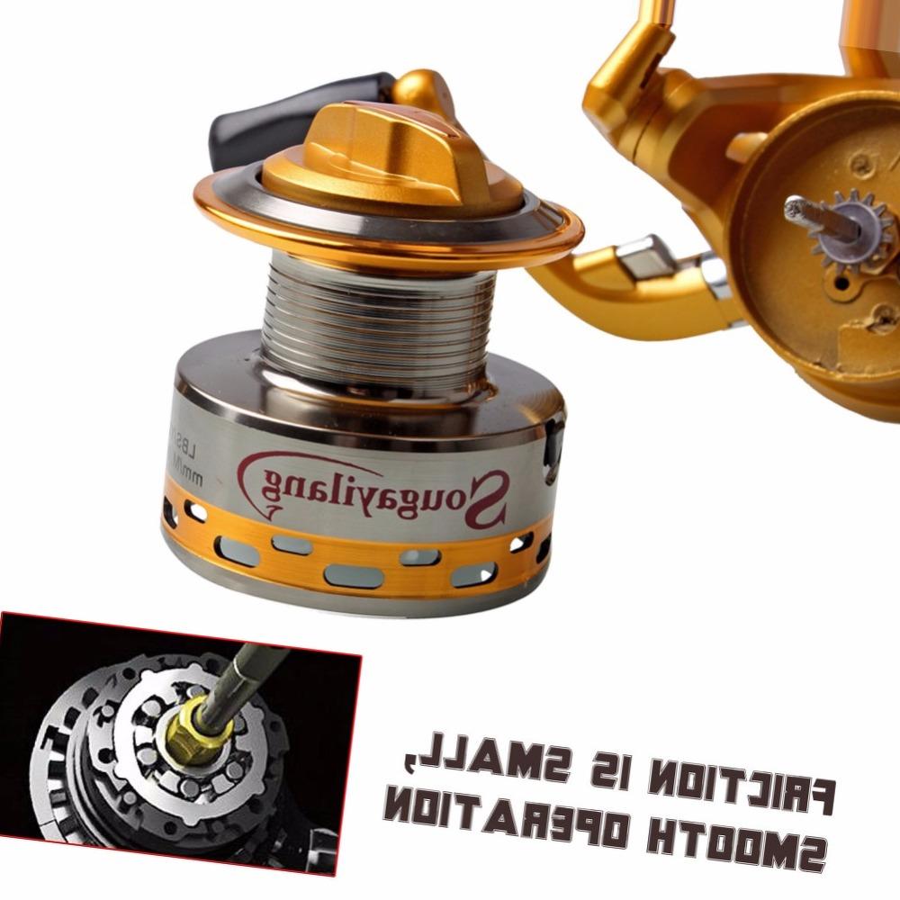 Sougayilang New Spinning Fishing Reel 14BB Bass Metal Fishing Wheel Boat Carp Trolling Fishing Reel Tackle Gear Free Shipping