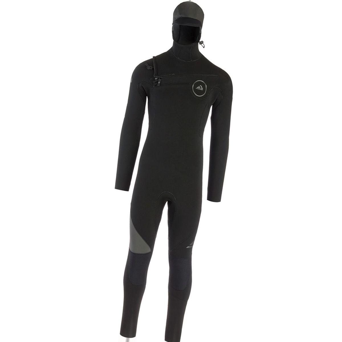 Quiksilver 5/4/3 Syncro Chest Zip GBS Hooded Wetsuit - Men's