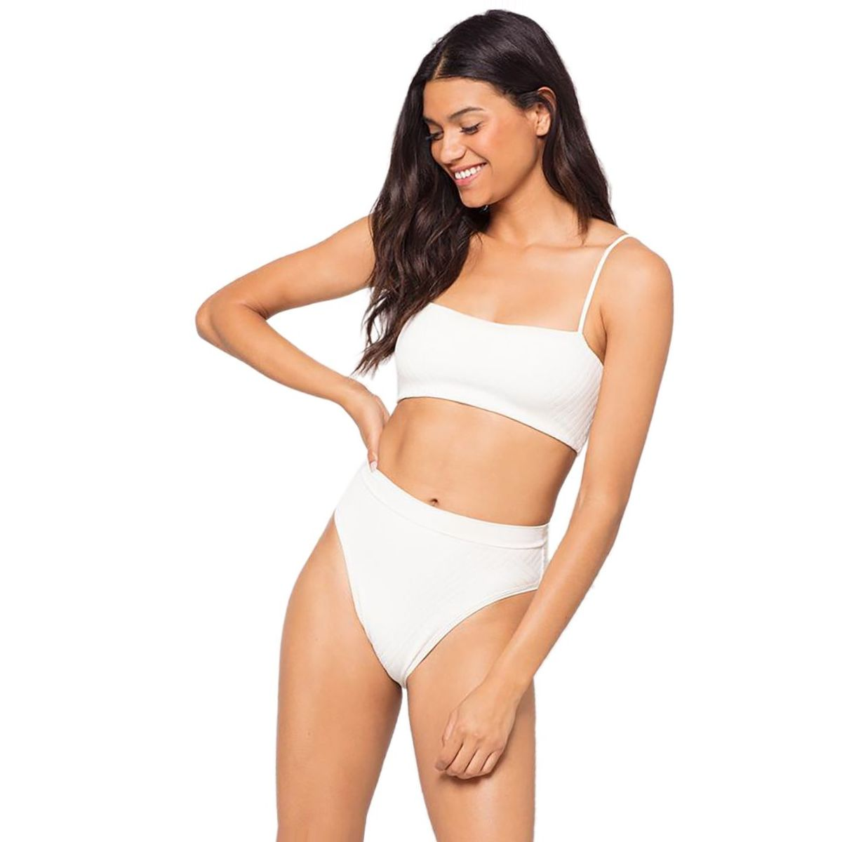 L Space Crossroads Texture Frenchi Bikini Bottom - Women's