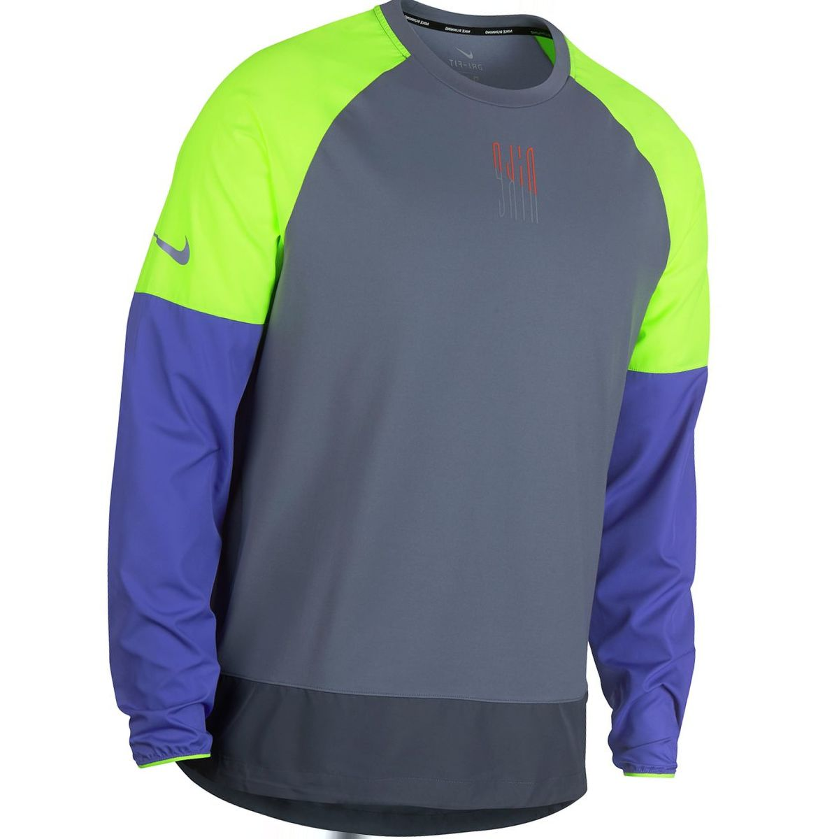 Nike Element Mix Crew Long-Sleeve Running Top - Men's