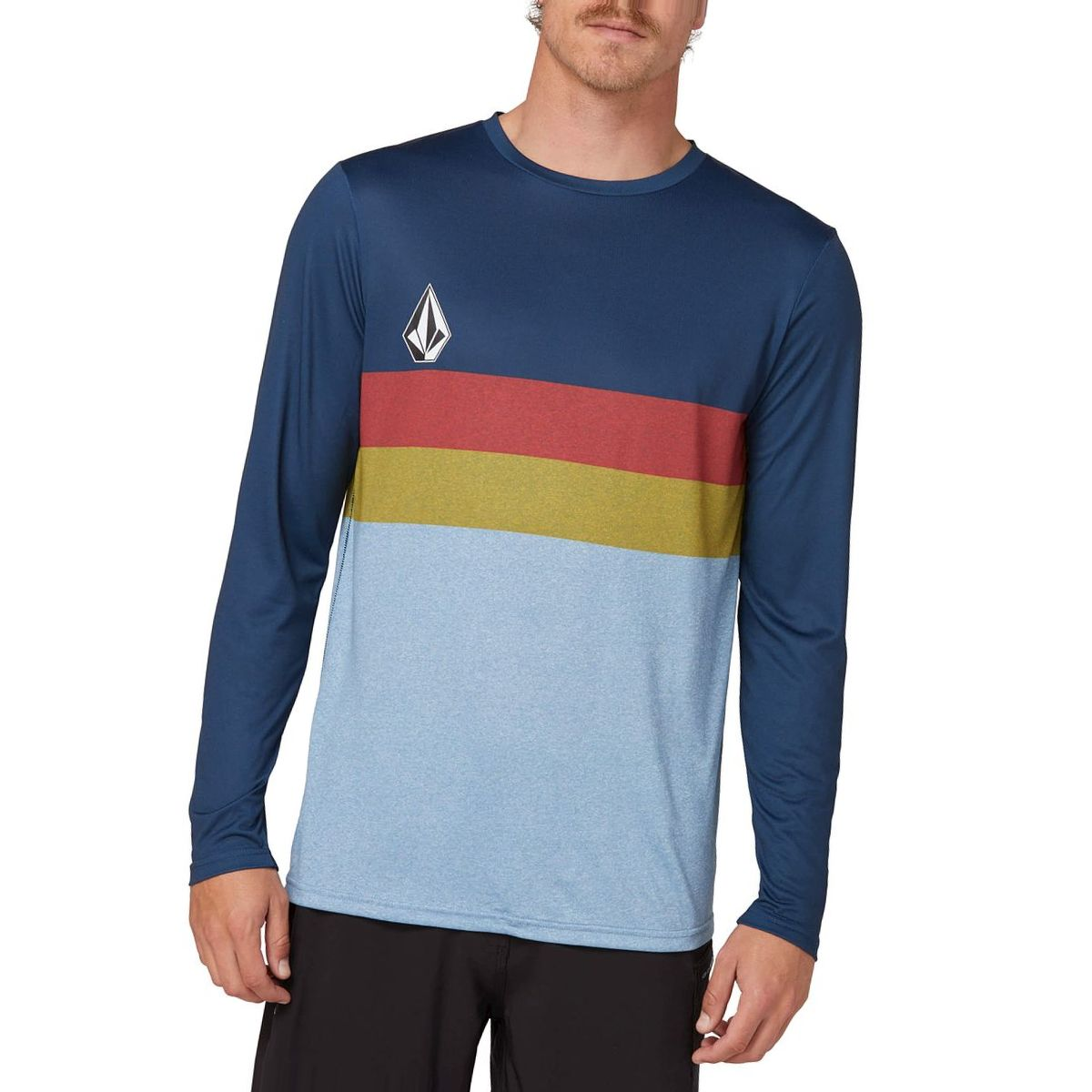 Volcom Lido Heather Block Long-Sleeve Rashguard - Men's