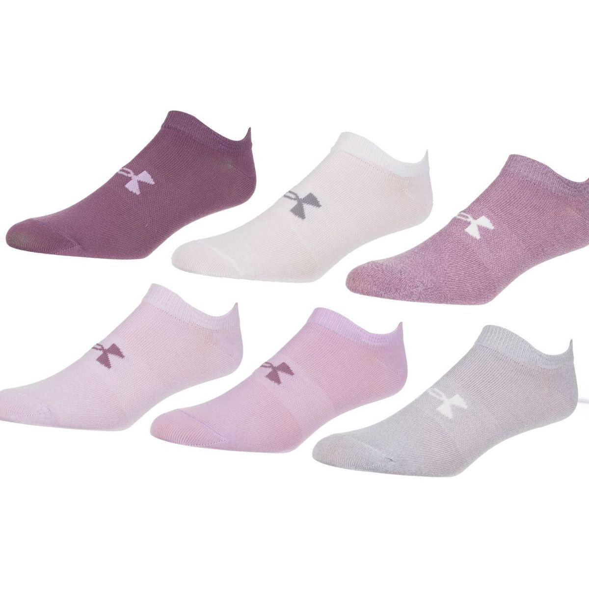 Under Armour Essential No-Show 2.0 Sock - 6-Pack - Women's