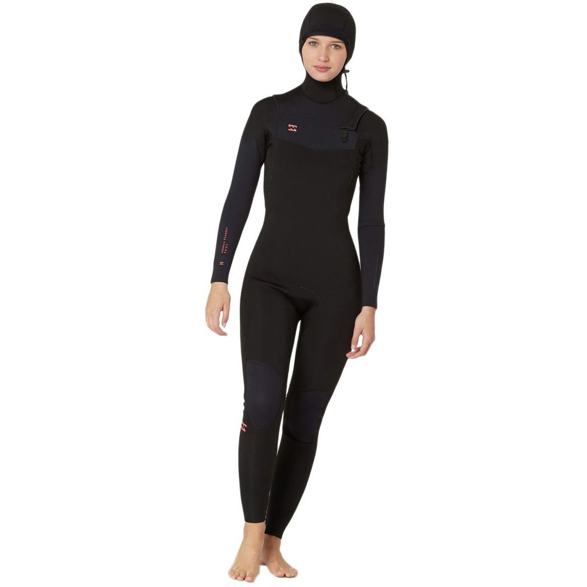 Billabong 5/4 Furnace Carbon Chest-Zip Hooded Wetsuit - Women's