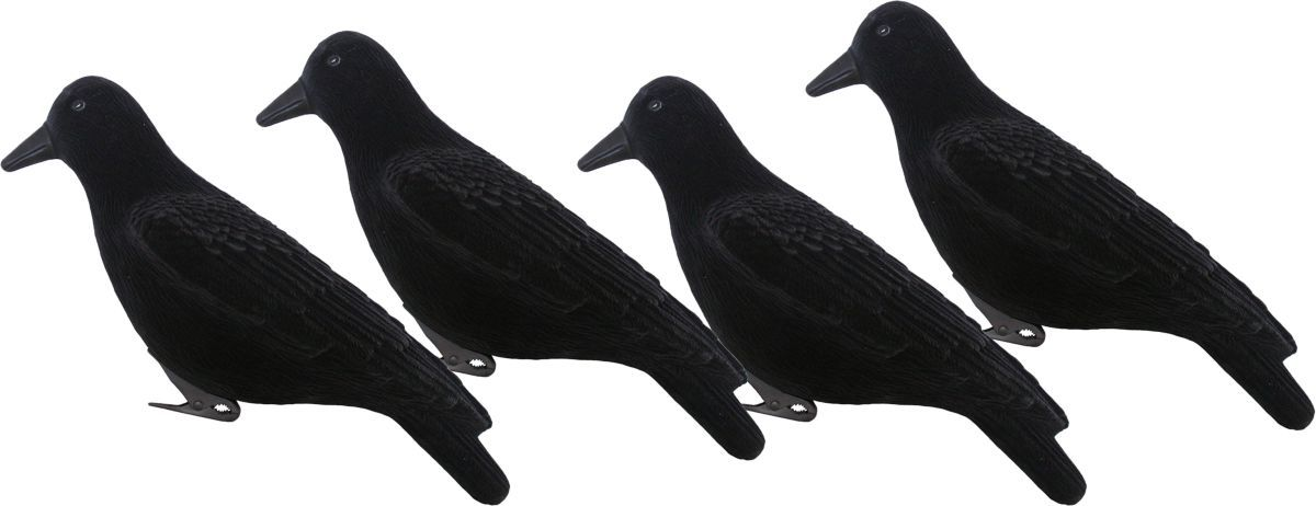 Hard Core Crow Decoys Four-Pack