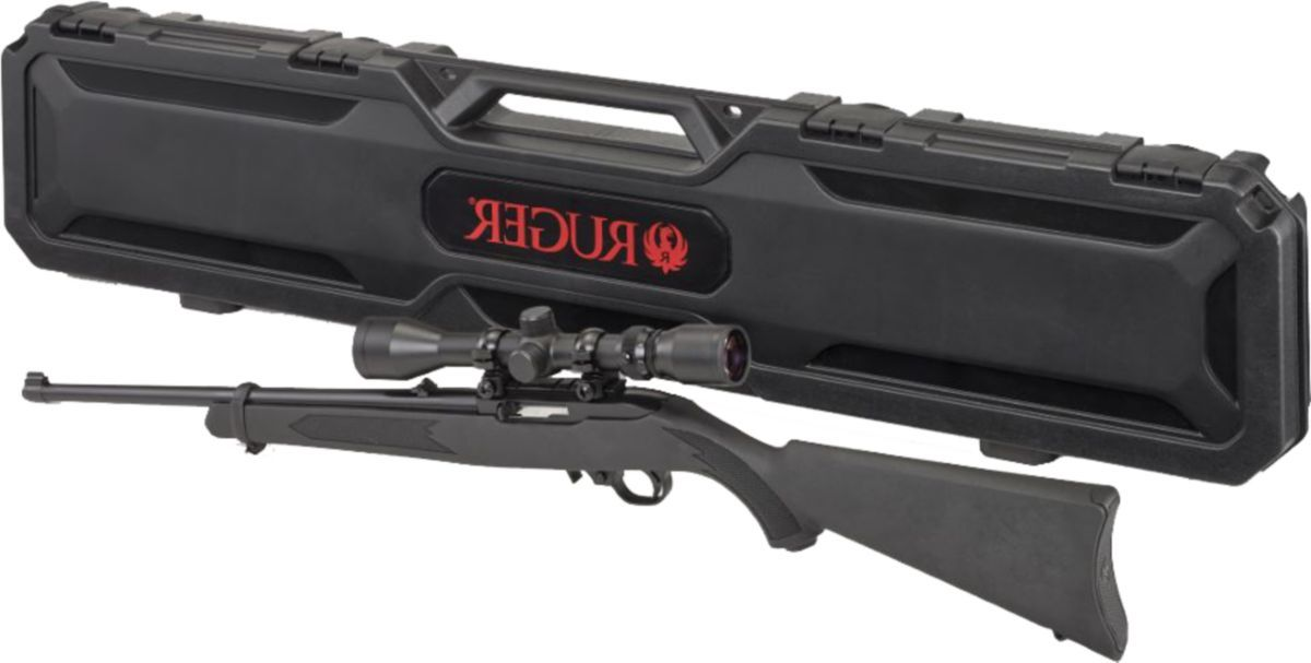 Ruger® 10/22® Semiautomatic Rimfire Rifle Combo with Scope and Case