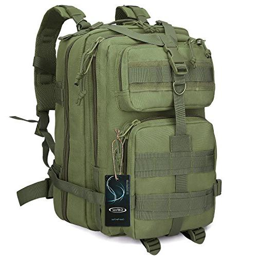 G4Free Tactical Shoulder Backpack Military Survival Pack Army Molle Bug Out Bag Surplus 35L Camping Backpack