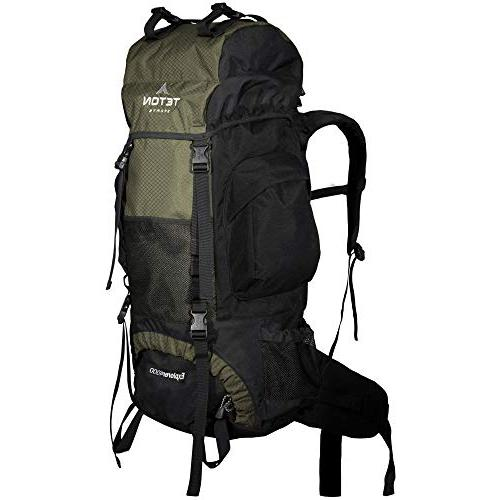 TETON Sports Explorer 4000 Internal Frame Backpack; High-Performance Backpack for Backpacking, Hiking, Camping Camping Backpack