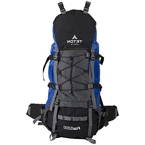 TETON Sports Fox 5200 Internal Frame Backpack; High-Performance for Backpacking, Hiking,  Camping Backpack