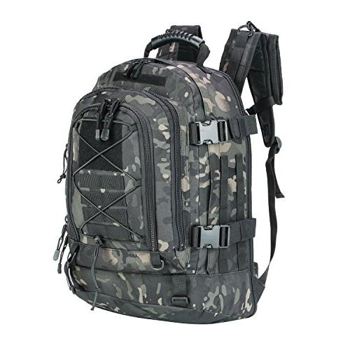 WolfWarriorX Men Backpacks Large Capacity Military Tactical Hiking Expandable 39L-60L Camping Backpack