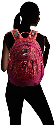 High Sierra Fatboy Backpack, Purple/Orange Paisley, 19.5 x 13 x 7-Inch Camping Backpack