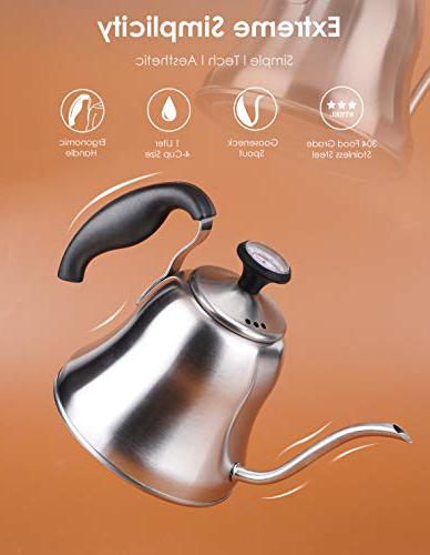 Chefbar Tea Kettle with Thermometer Stainless Steel Camping tea kettle