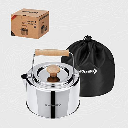KingCamp 1.2L Stainless Steel Camping tea kettle