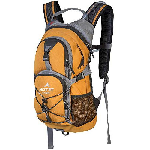 TETON Sports Oasis 1100 Hydration Pack; Free 2-Liter Hydration Bladder; For Backpacking, Hiking, Running, Cycling, and Climbing; Orange Camping Backpack